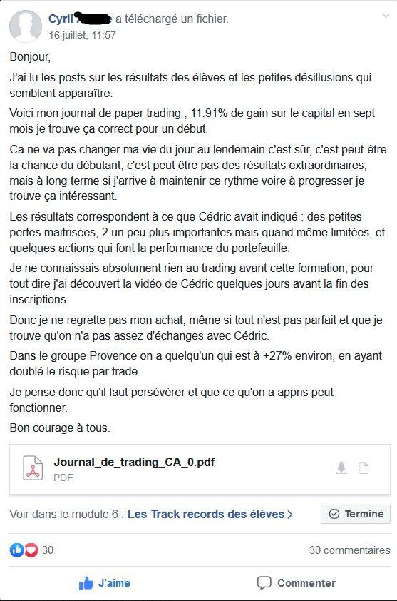 Cyril +11.90% de performance sur LSL en 7 mois