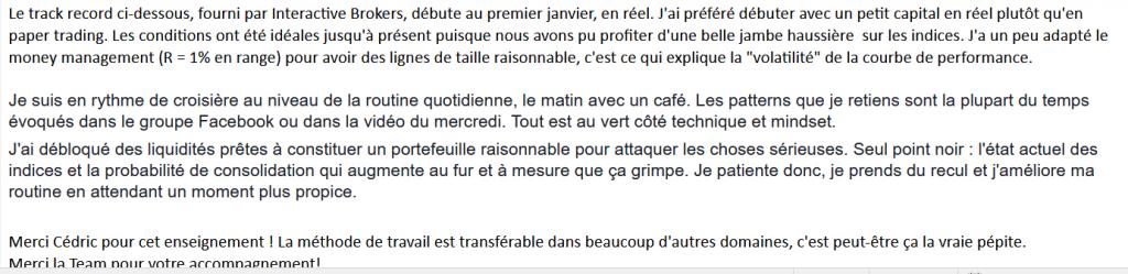 Témoignage par Mail Fabien pour LSL le speculateur libre